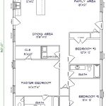 1750 Sq. Ft. Barndominium With 3 Beds & 2 Bathes Floor Plan