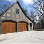 Detached Garage In Half Timbered Style