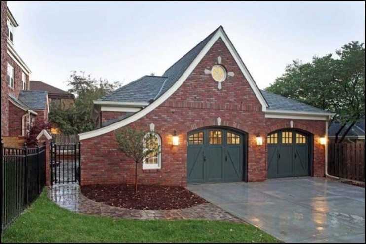 Elegant-Brick-Garage