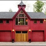 Red Detached Garage Barn Style