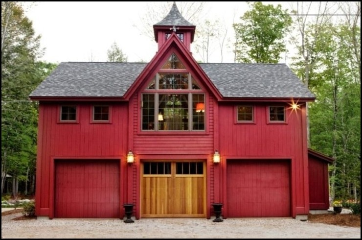 Red-Detached-Garage-Barn-Style