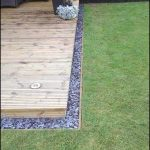 Crushed Rock Edging Around Deck