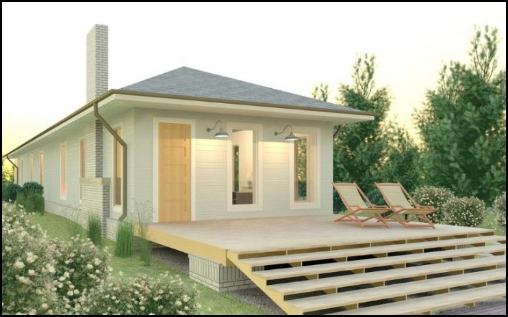 Traditional Bungalow Style Small House
