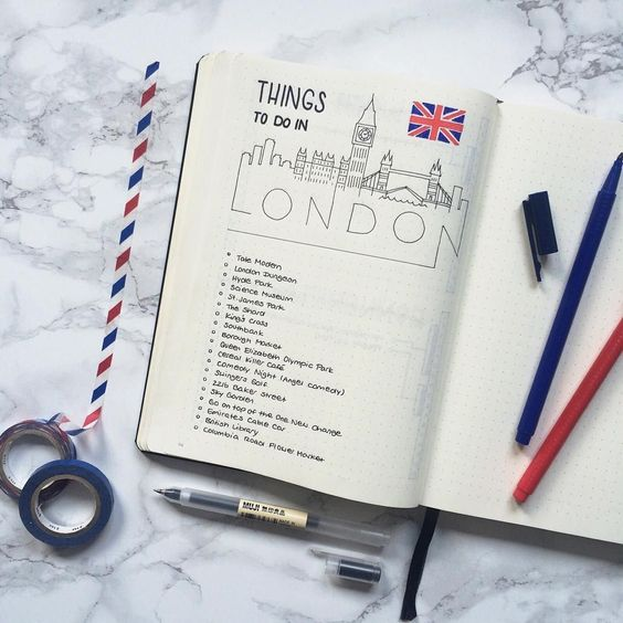 Things to Do Bullet Journal Ideas